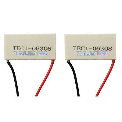 2pcs 40 x20mm TEC1-06308 Electronic Thermoelectric Cooler Peltier Plate Module.