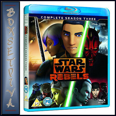 Star Wars Rebels -Complete Season 3 -Third Season *brand New Blu-Ray Region Free