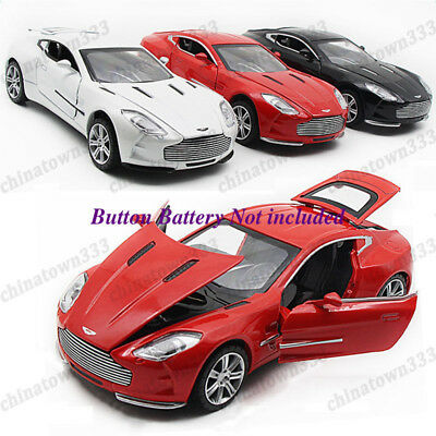 Toys Model Cars Aston Martin ONE-77 Alloy Diecast 1:32 Sound & Light Xmas Gifts