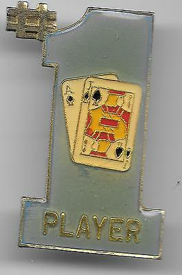 Vintage Blackjack #1 Player old enamel pin
