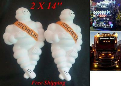 "2X14"" New Vintage Michelin Man Doll Figure Bibendum Advertise Tire Free Shipping"