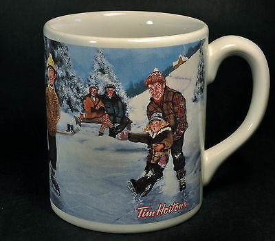 "Tim Horton ""Skating Pond"" Limited Edition Series #3 14oz Coffee Mug Cup ""Hockey"""