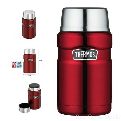 Thermos Stainless King 24 Ounce Food Jar Stainless Steel Vacuum Insulated