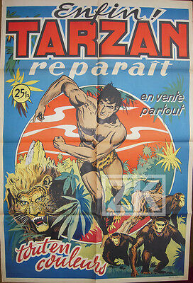 TARZAN Jungle Lion Singe Burroughs Comics BD AFFICHE 63