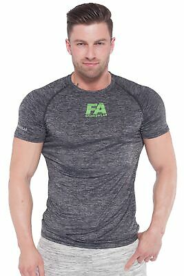 FA Sportswear T-Shirt Men Compression Grey - TRAININGSSHIRT - RUSGUARD