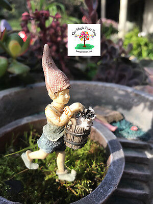 Faelyn the Elf - gnome figurine for your fairy garden planters or terrarium