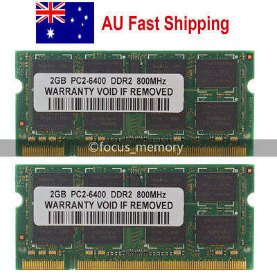 New 4GB 2X2GB PC2-6400 DDR2-800 800Mhz 200pin Sodimm Laptop Memory Ram From AU