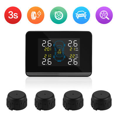 Car Auto Wireless TPMS Tire Tyre Pressure Monitoring System + 4 Sensors MA1322