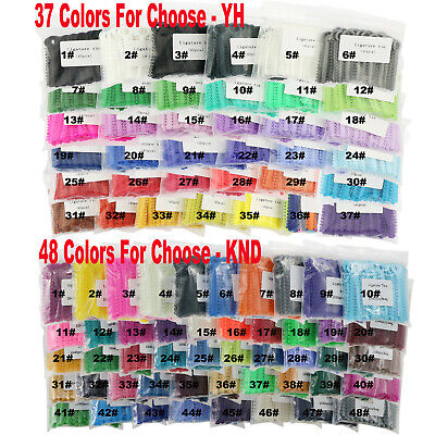 1040Pcs Dental Orthodontic Ligature Ties Elastic Rubber Bands 37 Colors Choose