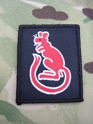 British Army Famous Desert Rats ID TRF Combat Shirt/Jacket Sew On Patch/Badge C