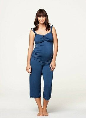 New Cake Lingerie Blue Berry Torte Breastfeeding Camisole and Lounge Pant Medium