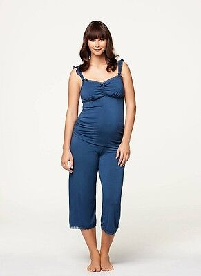 New Cake Lingerie Blue Berry Torte Breastfeeding Camisole and Lounge Pant Small
