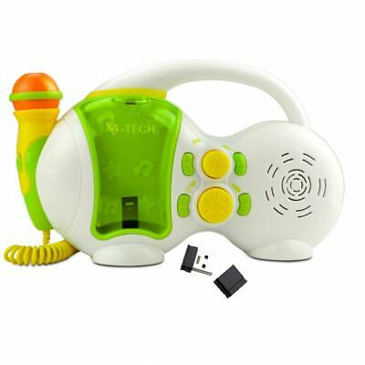 X4-Tech Kinder Karaoke Player USB Abspielgerät MP3 + 4 GB USB-Stick