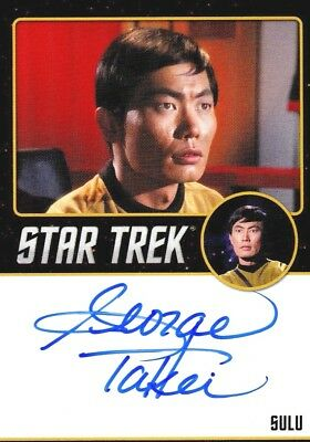Star Trek TOS Portfolio Prints George Takei Sulu Autograph Card