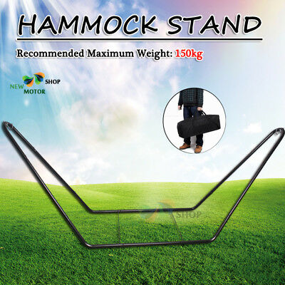 Outdoor Hammock Frame Stand Set (Only Stand) Powder Coated Steel With Carry Case
