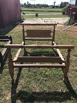 Antique Pine Rope Bed
