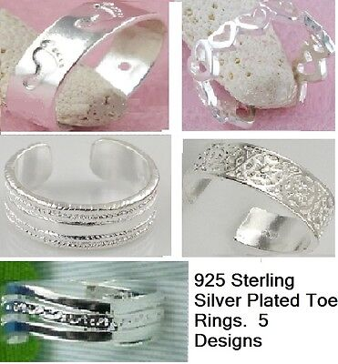 925 Sterling Silver Toe Rings