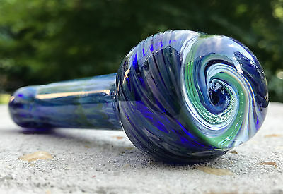 """4"""" Collectible Marble Swirl TOBACCO Smoking Pipe Herb bowl Glass Hand Pipes"""