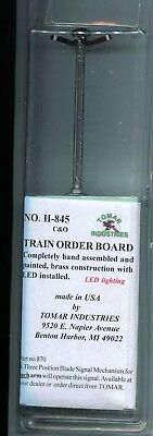 Ho Scale:  Tomar Industries 845:  Train Order Board