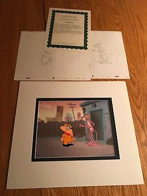 The Pink Panther Original Production Animation Cel+Sketch P35 Louie Big Nose