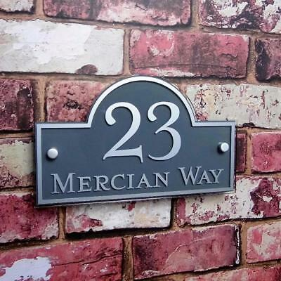 Modern House Number Plaques Acrylic Door Sign Name Plate Outdoor Signs/Plaques