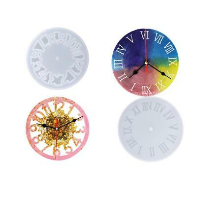Clock Silicone Mold Epoxy Resin Cabochon Jewelry Making DIY Handcraft Mould Tool