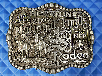 Hesston National Finals Rodeo 2007 Belt Buckle By Montana