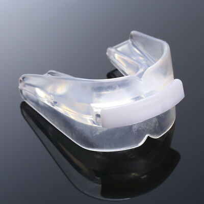 Transparent Gum Shield Mouth Guard Teeth Protector Rugby Boxing Silicone