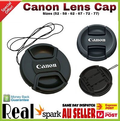 NEW CANON Cap 52,58,62,67,72,77 mm Snap-on Replacement Lens Cap For Canon
