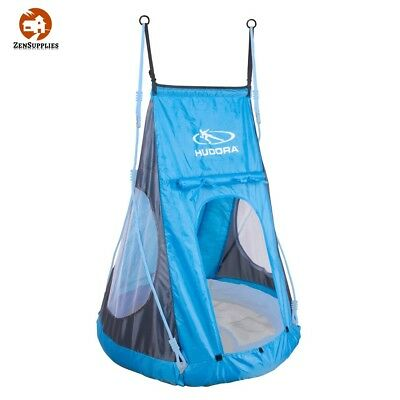 Castle Nest Swing Tent Double Suspension Roll Up Entrance Blue Polyester New 90