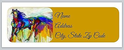 30 Personalized Return Address Labels Horse Buy 3 get 1 free (ho9)