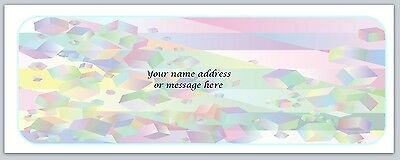 30 Personalized Return Address Labels Abstract Buy 3 get 1 free (bo560)