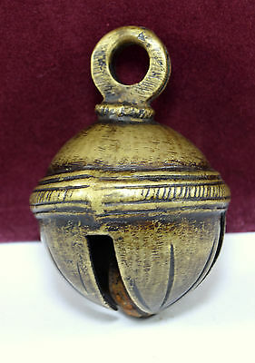 Indian Vintage Hand Crafted Bronze Horse, Cow Bell Handmade Collectible. G70-113