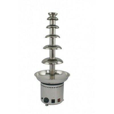 Chocolate fountain 6 tier, H 820mm, stainless commercial chocolate fountain