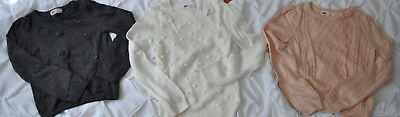 H&M Girls Youth Size 6-8 Sweaters Lot of 3 - excellent condition