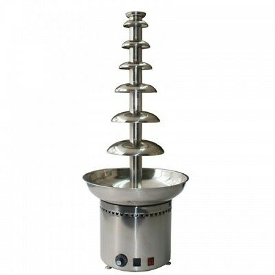 Chocolate fountain 7 tiers, H 1030mm, stainless commercial chocolate fountain