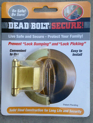 Prevents Lock Bumping and key Bumping. Deadbolt Secure, Arc Link Products