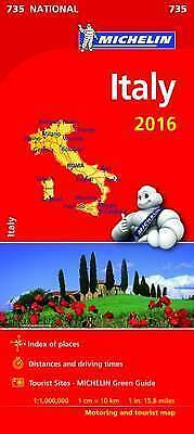 Italy National Map 2016 - Michelin 735 - New - Tourist / Motoring