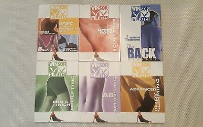 Winsor Pilates lot of 8 original/first workout exercise DVD including The Back