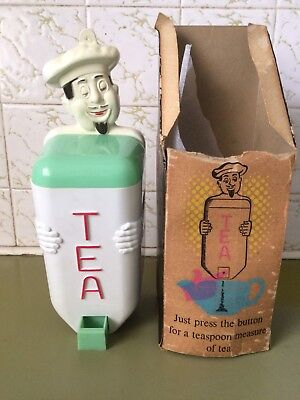 Vintage Retro Gay Ware , GayWare Kitchen Canister ,Tea ,Jolly Chef, Original Box