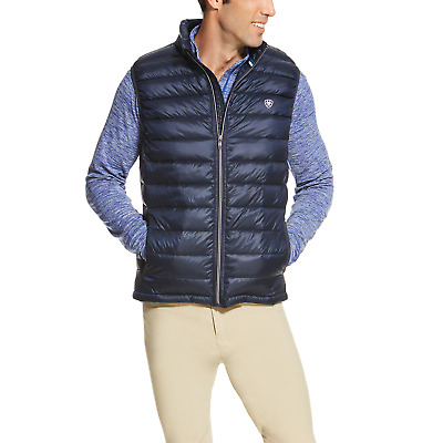 Ariat Mens Ideal Down Vest - True Navy Blue
