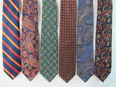 Lot of 6 Neckties Robert Talbott, XMI, Countess Mara, Brooks Brothers, Chaps
