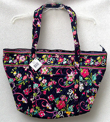 Vera Bradley Miller Bag in Ribbons Pattern.  Travel Overnight X Large Tote - NWT