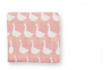 "MILKBARN Organic Cotton Baby Swaddle Blanket ""ROSE GOOSE"" - Now Retired - New"