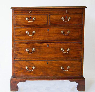 Antique English Mahogany 18th Century Bachelors Chest