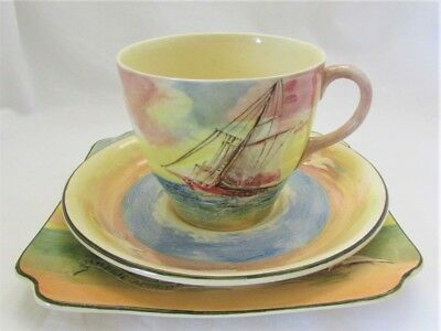 Royal Doulton Series Ware Famous Ships D5957 - 3 Pieces Cup Saucer Plate c1938