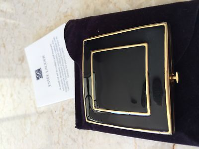 ESTEE BLACK AND GOLD Pressed Powder Compact Lucidity NEW