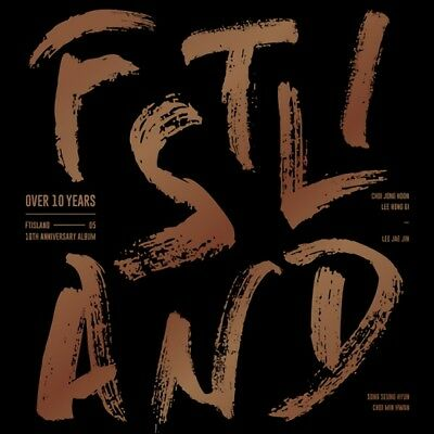 FTISLAND [OVER 10 YEARS] ALBUM CD+80p Photo Book+Folding Poster+6p Card SEALED