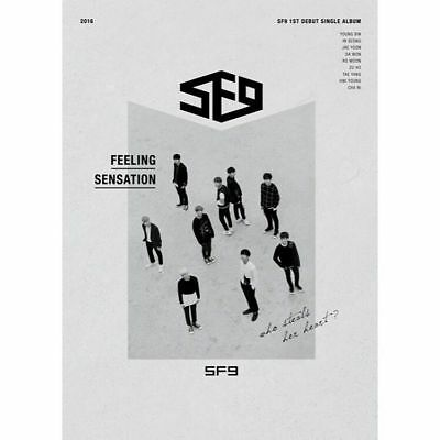 SF9 FEELING SENSATION 1st Debut Single Album CD+P.Book+Post Card Set+Card SEALED