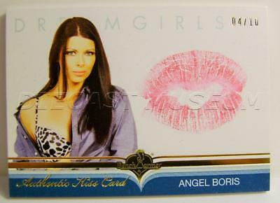 Angel Boris Authentic Kiss Card Dreamgirls 4/10 Bench Warmer 2017 Rare